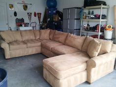 Nice Neutral Transitional Sectional Sofa w/ Chaise in Wesley Chapel, FL, USA ~ Krrb