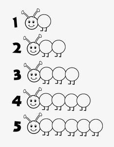Caterpillar Free Printable - Magnetic Pom Poms or Do-A -.- Caterpillar Free Printable – Magnetische Pom Poms oder Do-A-Dot-Marker – Caterpillar Free Printable – Magnetic Pom Poms or Do-A-Dot Markers – - Preschool Learning Activities, Preschool Printables, Preschool Worksheets, Preschool Crafts, Toddler Activities, Kids Learning, Number Worksheets, Free Preschool, Alphabet Worksheets