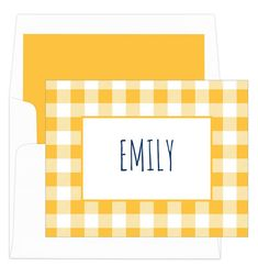 Gingham Folded Note Cards