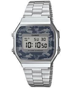 Casio Men s Digital Stainless Steel Bracelet Watch 38x36mm A168WEC-1MT 0cce6b0055