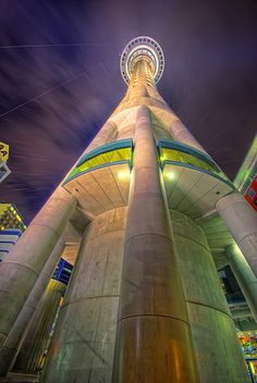 Auckland Sky Tower, Auckland, New Zealand. Tallest building in the Southern Hemisphere. Unusual Buildings, Amazing Buildings, Amazing Architecture, Modern Architecture, Building Architecture, Auckland, The Places Youll Go, Places To See, New Zealand Holidays