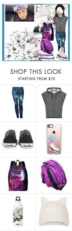 """""""Flower crowns?"""" by thin-mint on Polyvore featuring Sweaty Betty, Universal, Riedell, Converse, Casetify, JanSport and Topshop"""