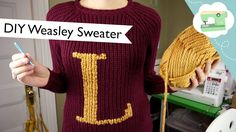 Make an ordinary muggle sweater into a Weasley sweater using duplicate stitch! No knitting required. Video tutorial!