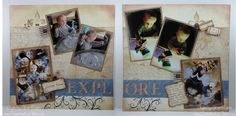 Explore layout uses 6 photos  ? use for scouts or craft night pictures.