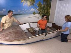 Take a salvaged rowboat and create a bed that seems like you're floating on water. The DIY to the Rescue team shows how to create a bed from an old boat.