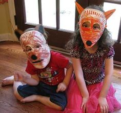 Woodland Animal Masks great for #Daisy Girl Scouts 3 Cheers for Animals Journey #GirlScouts | Naturally Educational