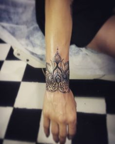 Fun, creative, rebellious, many people love getting tattoos and use them as a platform for self-expression. Tattoos can be satisfying both physically while looking at them and mentally when you con… Mandala Wrist Tattoo, Wrist Tattoo Cover Up, Wrist Tattoos For Guys, Small Wrist Tattoos, Cover Up Tattoos, Forearm Tattoos, Body Art Tattoos, New Tattoos, Hand Tattoos
