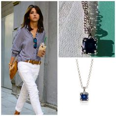 Styling with our Sable Sapphire Pendant necklace