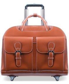 038156aa29 McKlein Davis Wheeled Briefcase - Brown