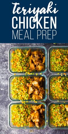 Broccoli rice teriyaki chicken meal prep is a lower-carb and grain-free option that is ready in under 30 minutes! Perfect on the go lunches or easy dinners. Paleo Recipes Easy, Lunch Recipes, Easy Dinner Recipes, Real Food Recipes, Easy Dinners, Cooking Recipes, Yummy Food, Lunch To Go, Lunch Meal Prep