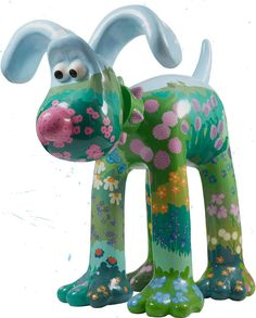 "Gromit Unleashed - Emily Ketteringham's ""Blossom"" was inspired by the artist's dream flower beds, which would be bursting with color all year round. If anyone could convince flowers to bloom in a profusion of color, it would be Gromit!"