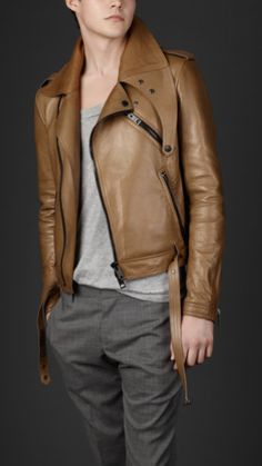 Leather jacket, by Burberry Prorsum #jacket #leather