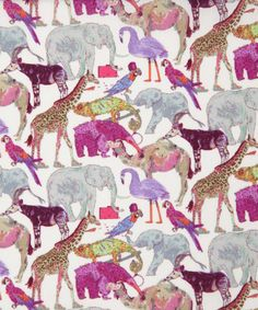 Que for the Zoo Liberty Art Print cotton lawn fabric £22.50  PER METRE