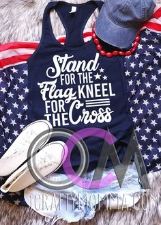 bb9e4e5481 Stand For the Flag Kneel for the Cross Tank, 4th of July Tank, 4th of July  Tank Top, Fourth of July Shirt, Independence Day Tank - Racerback