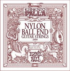 Ernie Ball Ernesto Palla Nylon Classical Black & Gold Ball End Guitar Strings