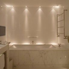 Luxury Bathroom Master Baths Wet Rooms is no question important for your home. Whether you choose the Small Bathroom Decorating Ideas or Luxury Bathroom Master Baths With Fireplace, you will make the best Luxury Master Bathroom Ideas for your own life. Bathroom Lighting Design, Bathroom Light Fixtures, Bathroom Interior Design, Bathtub Lighting, Shower Lighting, Lighting For Bathrooms, Interior Lighting Design, Wall Lighting, Vanity Lighting