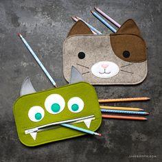 Kid's Felt Pencil Pouches