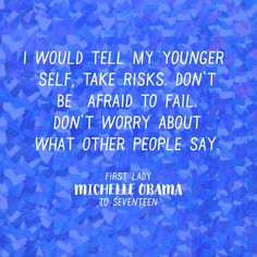 Advice from First Lady Michelle Obama Michelle Obama Quotes, Michelle And Barack Obama, She Quotes, Girl Quotes, Motivational Quotes, Inspirational Quotes, Senior Quotes, Good Advice, Best Advice Quotes