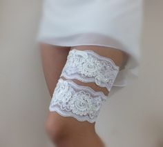 Wedding Garter Set very special and unique set of garters! ivory lace embroidered handmade garter Romantic lace wedding garter features soft lace with beautiful elegant and embroidered pearl. I