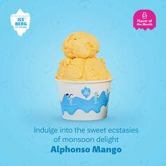 Tomorrow is So we have a to celebrate the - Alphonso Mango . Mango Ice Cream, Mango Tree, Juicy Fruit, No Response, Simple, Sweet, Desserts, Fun, Candy