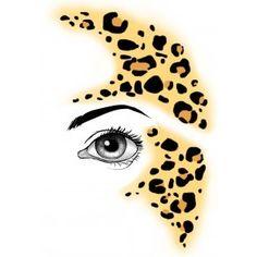 face painting leopard spots