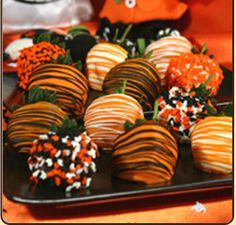 Clemson chocolate covered Strawberries... Mmmmm :)