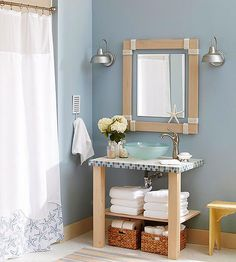 How to Make a Simple Tiled Vanity