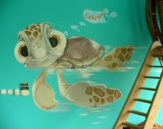 On the exterior wall facing the pool? lol