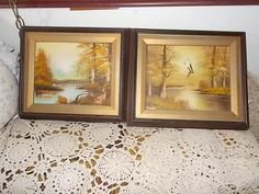 G.Fern Beautiful River and Landscape Oil Paintings /Not Included in Coupon Sale/ by Daysgonebytreasures on Etsy