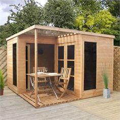 10' x 10' Waltons Wooden Villa Large Garden Room - I wanna make this!