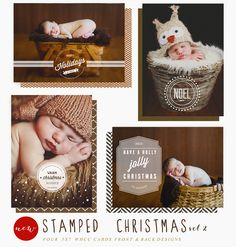 Stamped Christmas vol. 2 - Christmas card template available through Jen Boutet Photography with your portrait session in Charlottesville, Va. www.jenboutet.com