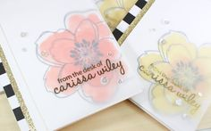 Foiled Vellum Overlay Cards - Minc Mini Gold Foil