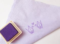 Origami crane, DIY wedding, Wedding invitation, Decoration stamp,Papar napkin decoration, Rubber stamp, Scrap booking supplies
