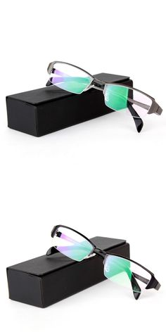 0040ec82ea24 Spectacle frame Optical Wear semi-rimless glasses half frame Pure titanium  business eyewear formal Prescription
