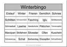 Themenbingo Winter Winter, Logo, House, Ideas, Elderly Care, Bingo Template, Aphasia, Dementia, Training