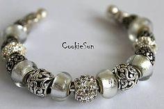 Náramky - Náramok Pandora White&Silver... - 6240388_