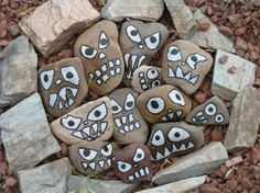 Painting Stones and Rocks | Angry little painted rocks | Rock and Stones
