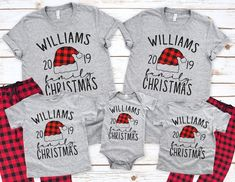 Christmas Family Pajamas - Buffalo Plaid Santa Hat - Family Matching Plaid Pants And Shirt - Custom Family Gift - Pajama Set Matching Christmas Pajamas, Christmas Pjs, Christmas Family Shirts, Xmas Pjs, Christmas Ideas, Christmas Decor, Matching Family Pajamas, Christmas 2019, Holiday Ideas