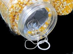 Stow your jewelry or other special items in your pantry (who would guess to look there?) by placing a smaller container within a glass jar. Fill the space between with corn kernels, and it will blend with your unperishables. Get the tutorial at Not Just Any Bee »