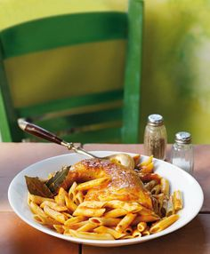 Greek island Corfu traditional pasta and meat dish Greek Dinners, Greek Cooking, I Want To Eat, Food N, Greek Recipes, I Foods, Cooking Recipes, Dishes, Chicken