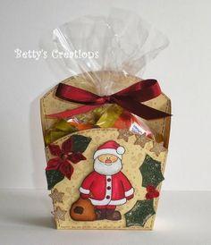 Molde de cajita navideña