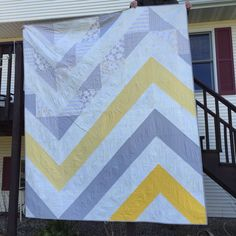 Queen size quilt for D-I-L Laura. Idea is from a baby quilt posted on Pinterest