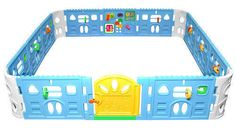 Baby Playpen With Door - Super Giant Interactive Play Room 2.3 x 2.3m - Nanny-Annie