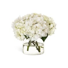 Diane James White Hydrangea Arrangement (27.300 RUB) ❤ liked on Polyvore featuring home, home decor, floral decor, flowers, faux flowers, hydrangea flower arrangement, hydrangea silk flowers, silk flowers and white silk flowers
