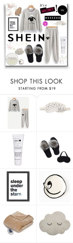 """Shein"" by eldinreham ❤ liked on Polyvore featuring Urban Outfitters, OuiHours, Portolano, Americanflat, West Elm, Sleep Philosophy and Bloomingville"