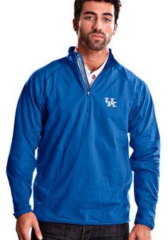 Kentucky Mens Blue Metro 1/4 Zip Performance Pullover