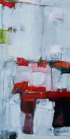 """anne-laure djaballah /      24""""x12"""", oil, acrylic on canvas"""