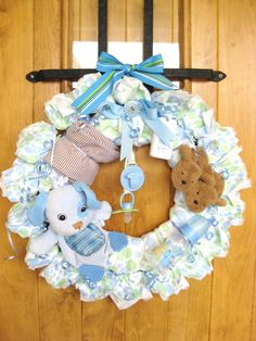 Baby Diaper Wreath very cute !