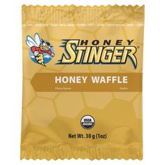 The Honey Stinger Honey Waffle, made of two waffle wafers with honey in the middle, is a great snack to have.