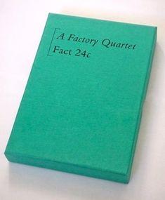 """Factory Records unique cassette boxes #1, this is FACT 24c, or """"A Factory Quartet"""""""